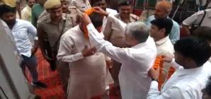 मंच से कांग्रेस और इनेलो पर जमकर बरसे सांसद राजकुमार सैनी